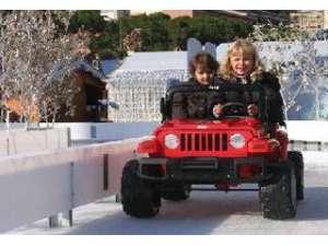 Circuit de voitures sur glace