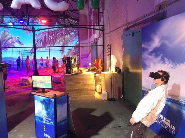 Simulateur de surf virtuel