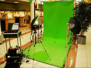 Photocall / Fond vert